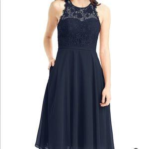 Azazie Sylvia navy bridesmaid dress